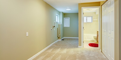 Basement Hallway with Laundry