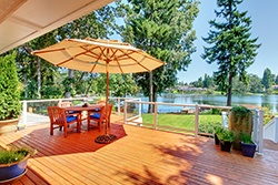 Deck and Lake